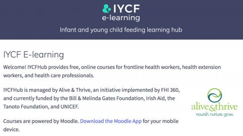 Infant and young child feeding learning hub
