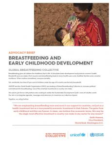 Breastfeeding and early childhood development