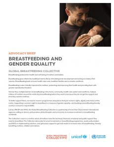 Breastfeeding and gender equality