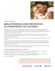Breastfeeding and prevention of overweight in children