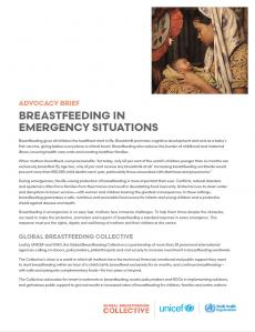 Breastfeeding in emergency situations
